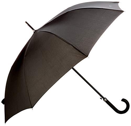Hackett Herren PLAIN WALKING UMB Regenschirm, Schwarz (Black 999), One Size (Herstellergröße: 000)