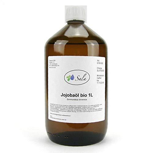 Sala Jojobaöl kaltgepresst bio 1 L 1000 ml Glasflasche