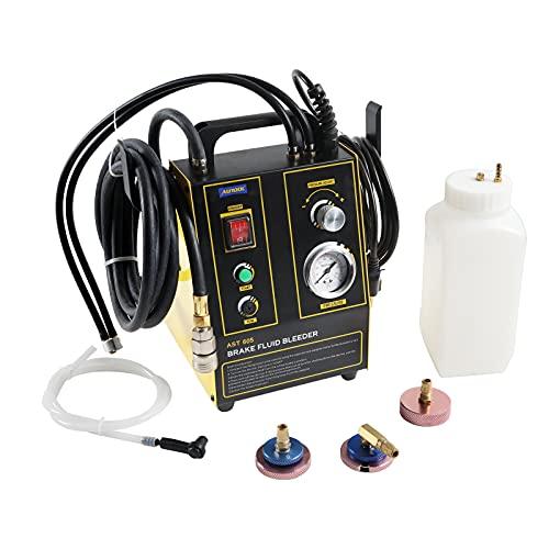 PLAYOCCAR Purgeur Liquide de Frein, Kit de Purgeur de Frein Pneumatique Automatic avec Pression Réglable (8,7~43,5 psi) Compatible avec Tous Les Véhicules, 220V