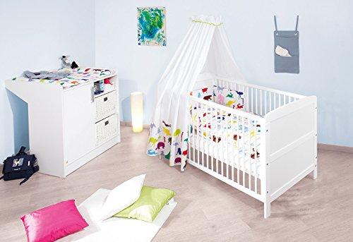 Pinolino – 090022 – Set économique Victoria, 2 pièces, lit enfant (140 x 70 cm) et commode blanc