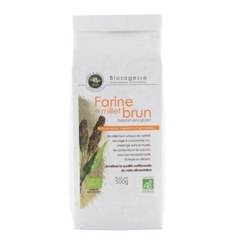 Harina de Mijo Organico, variedad de Mijo Silvestre, sin gluten | 500g | Ecoidées