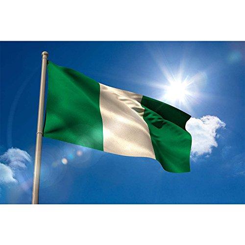 CDKJ Flagge Nigeria Fahne 150 x 90 cm