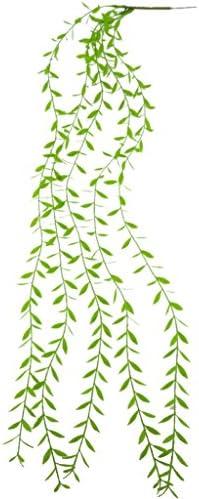 Amuzocity Unieke lange groene kunststoffen ver groen verlaten foliage bruiloft bloemengroen