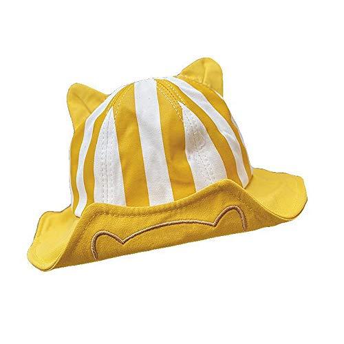 KDAQO Sombrero de los niños Pescador, Vaquero de Dibujos Animados, Verano Delgada Macho y Hembra bebé Sombrero de Sol, adecuados for Salidas diarias (Color : A)