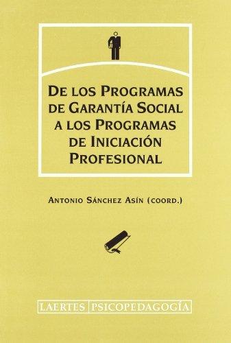De los programas de garantía social a los programas de iniciación profesional: Pensamiento del profesorado y del alumnado (Psicopedagogía)
