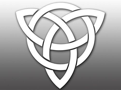LPF USA Magnet White Vinyl Celtic Knot Magnetic Sticker (Ireland Irish Celt Decal)