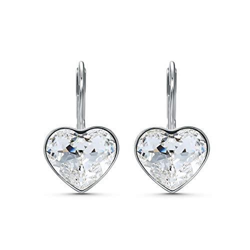 Swarovski Orecchini Bella Heart da Donna, Placcato Oro, Bianco