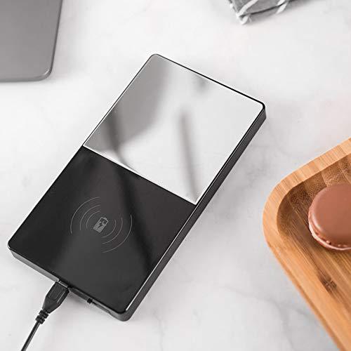 Semine 2 in 1 schnelles drahtloses Ladegerät 55 ° elektrische Heizung Kaffeepad