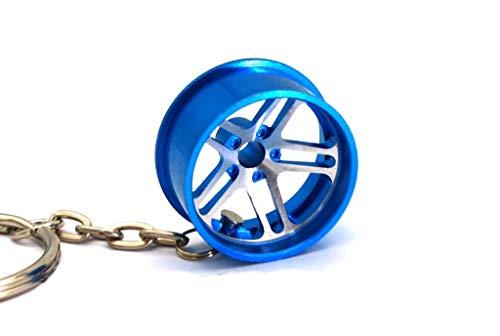boost-key.com Hellaflush Wheel Felge Eloxiert Schlüsselanhänger massiver Anhänger von VmG-Store (Blau eloxiert)