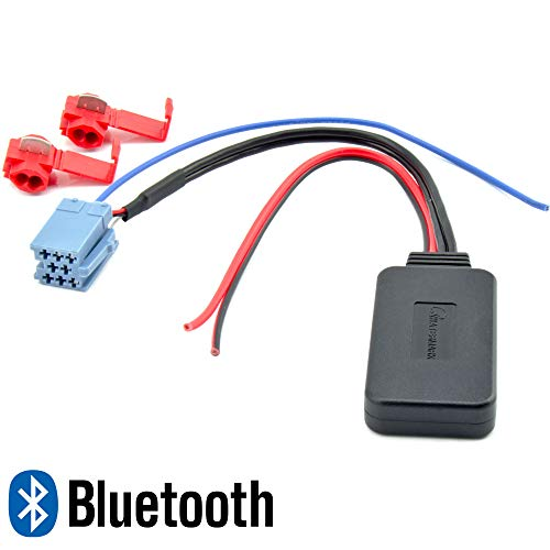 Watermark WM-BT37 Bluetooth Adapter für Smart FIAT Alfa Lancia Blaupunkt Becker Philips Delphi VDO MP3 Musik-Streaming 8pol. Mini-ISO Radio-Stecker