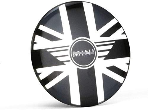 Adecuado para Mini Cooper S JCW One + R55 R56 R60 R61 F54 F55 F56 F60 Cubierta de rueda Clubman Countryman, pegatina con el logotipo del neumático, pegatina del centro de la rueda
