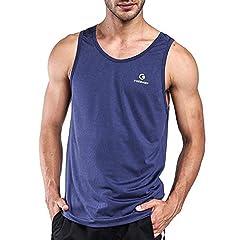 Ogeenier Hombre Deporte Camiseta sin Mangas de Secado Rápido para Running Fitness Ejercicio