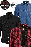 Texpeed - Herren Motorradhemd mit Protektoren - mit Kevlar gefüttert - in 3 Farben verfügbar - L