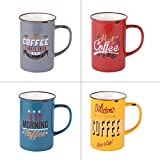 Coffret 4 mugs Vintage 37 cl assortis