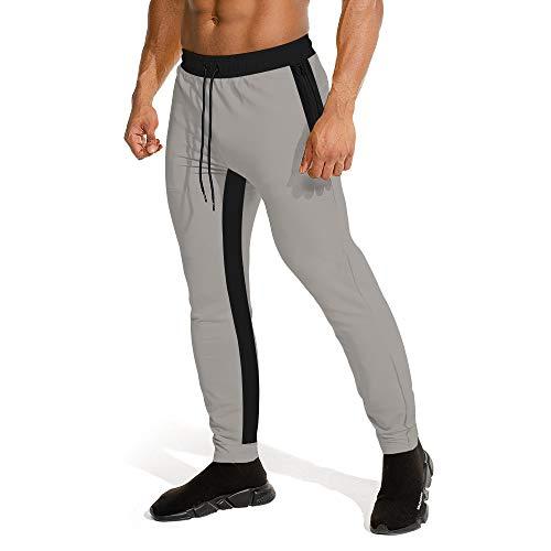 UNIFACO Jogging Hose Für Herren Slim Fit Grau Sporthosen Baumwolle Softshell Jungen Streetwear Training Cargohose