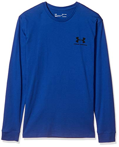 Under Armour Herren T-Shirt Sportstyle Left Chest Langarm, Herren, Sweatshirt mit Rundhalsabschnitt, Sportstyle Left Chest Long Sleeve, American Blue (449)/Schwarz, 3X-Large