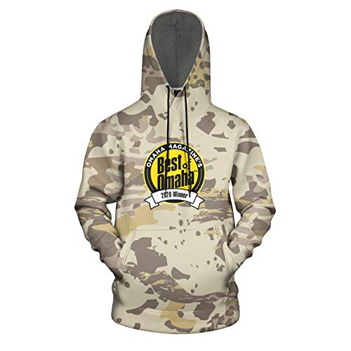 Dundee-Dell-Best-of-Omaha- Leopard Hoodie for Men Soft Hooded Sweatshirts