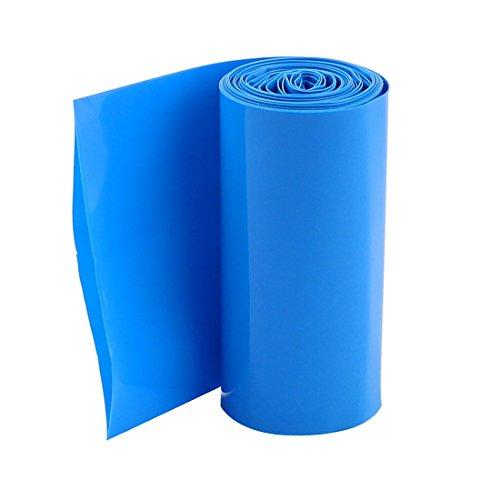 2Meters 70mm Ancho PVC Termoretractil Cobertura Azul para 4x18650 Paquete De La Batería