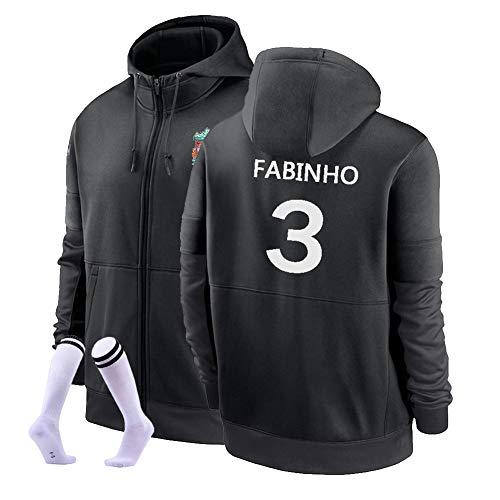 Fabinho # 3 Football Sudadera con Capucha Suéter De Fútbol Cálido Y Grueso Sudadera Unisex S-3XL (Color : G, Size : Adult Large)