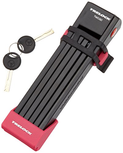 Trelock Faltschloss FS 200/100 Two Go, Halter/Bracket Pink, 100x10x10cm