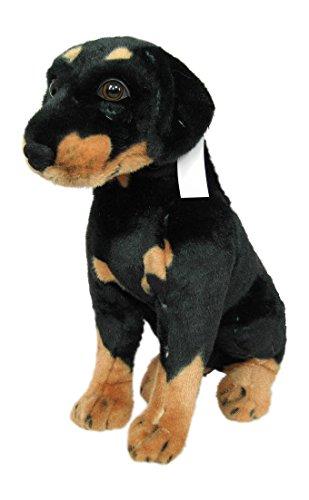 Wagner Plüschtier Hund Rottweiler Welpe - sitzend - 51 cm (Körperlänge)