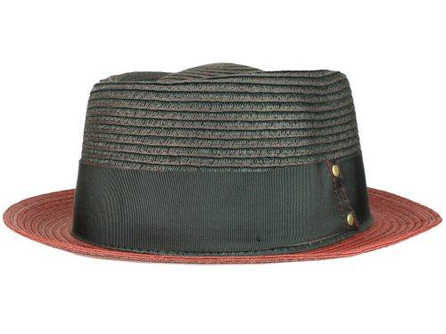 Bigalli Homme Chapeau Porkpie Cleveland rouge