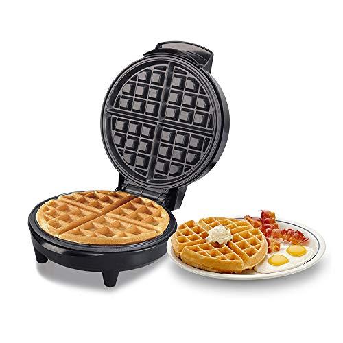 WeiX Gofreras eléctricas,sandwichera,Revestimiento Antiadherente, Molde de Acero Inoxidable, Recetas, Control de Temperatura Ajustable, para Desayuno/Almuerzo/Cena