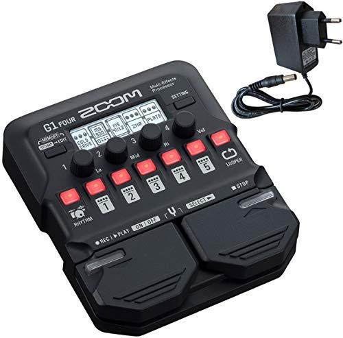 Zoom G1 FOUR Multi-Effektgerät für Gitarre + keepdrum Netzteil 9V