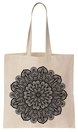 Finest Prints Very Detailed And Artsy Mandala Cotton Canvas Tote Bag