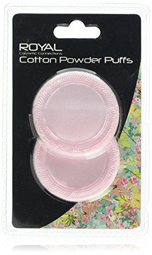 Royal Functionality Cotton Powder Puffs, 2-Piece