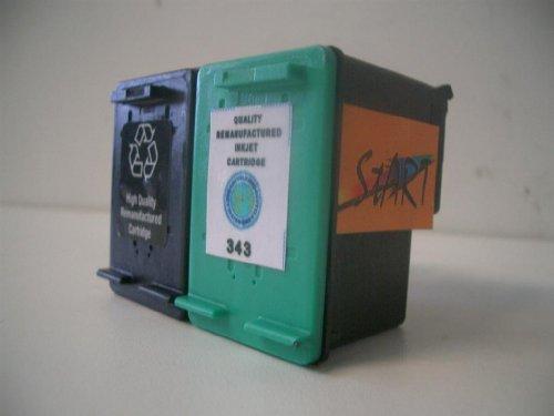 Start-Europe - Set de 2 cartuchos de tinta compatibles con HP n 27 negro y n 22 a color (tambin con C8727AE y C9352AE) para las impresoras HP Officejet (All-in-One) 5605, 5605Z, 5608, 5609, 5610, 5610V, 5610 xi y 5615 (no requiere montaje de chip)