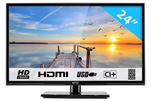 HKC NPG 400 : Téléviseur LED de 60 cm (24 Pouces) (HD Ready, Triple Tuner, CI+, Connexion HDMI, Lecteur multimédia Via USB 2.0)[Classe énergétique A+]