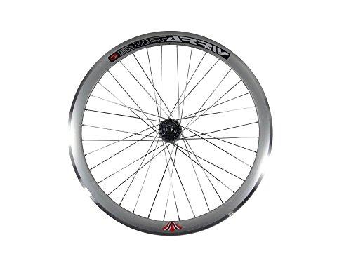"""Woo Hoo Bikes Deep V 43 Mm Rueda Trasera Para Fixie, Engranaje Fijo, Pista, Bicicleta de Una Sola Velocidad, Color Plata, Tamaño 28\"""" 700C 622"""