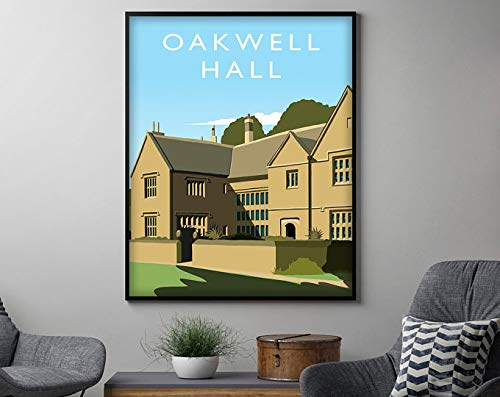 AZSTEEL Oakwell Hall Print Travel Poster, Travel Decor Housewarming Gift, Travel Wall Art Decor | Poster No Frame Board for Office Decor, Best Gift for Family and Your Friends 11.7 * 16.5 Inch