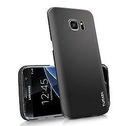Coque Galaxy S7 Edge - TURATA Coque Ultra fin en PC plastique dur Surface anti-dérapante pour Samsung Galaxy S7 Edge - Noir