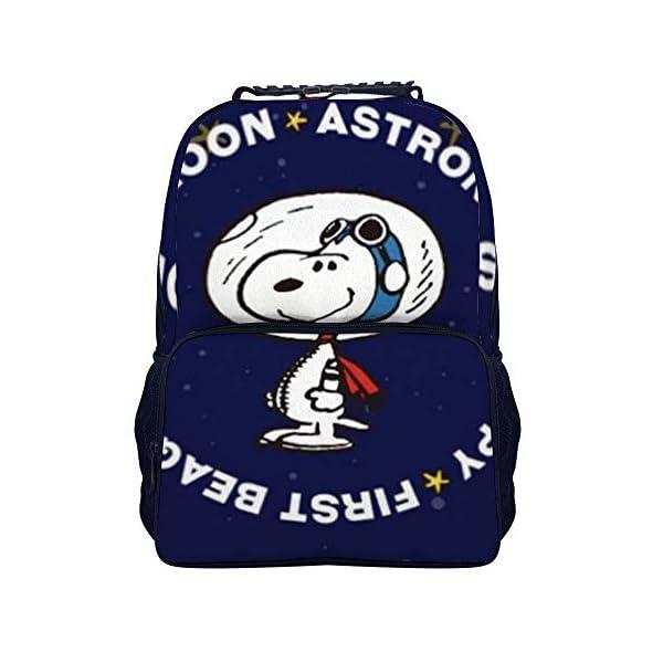 41CPMUrrasL. SS600  - Astronaut Snoopy mochila escolar bolsa de viaje bolsa de negocios mochila para hombres mujeres adolescentes escuela…