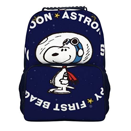 41CPMUrrasL - Astronaut Snoopy mochila escolar bolsa de viaje bolsa de negocios mochila para hombres mujeres adolescentes escuela…