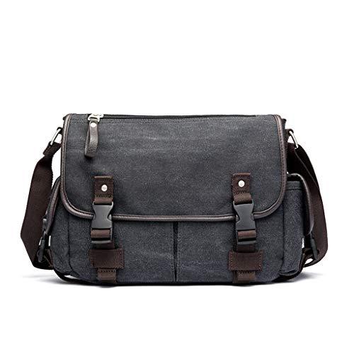 6Wcveuebuc Vintage Men's Canvas Briefcase Casual Messenger Bag Crossbody Satchel Tote Handbag Shoulder Bags