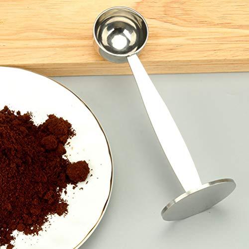 Knowooh Cucharas dosificadoras de cafe con Marcas de cantidad 2 en 1 cucharadita multiproposito de Acero Inoxidable Cuchara medidora Pulida para cafe te Suelto azucar o harina