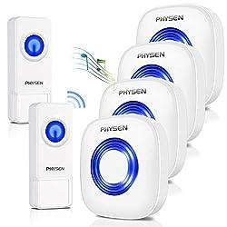 cheap [New in 2020]PHYSEN Wireless Doorbell Mute Waterproof Doorbell, 58 Doorbell, …