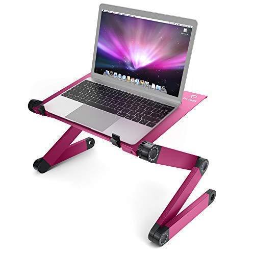 LifeBasis Laptop Ständer Flatbare Tisch für Notebook Vollig Anpassungsfähig Notebook Stand Aluminiumlegierung Tragbares Bett Frühstück...