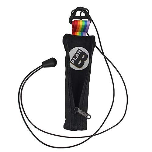 Plan B E-Zigarette Tasche Myblu Pride (12 x 2.80 cm) mit 100 cm Schnur mit Reißverschluss Schwarz