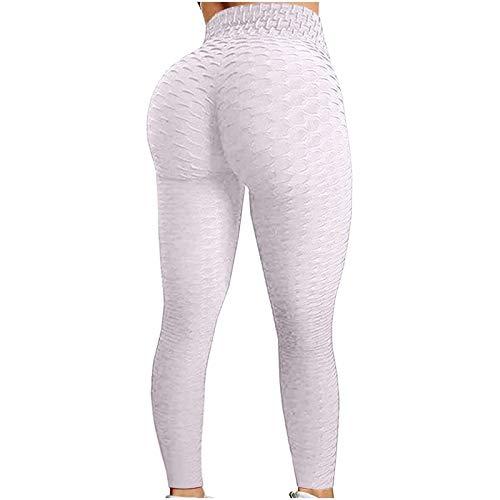 Polainas del Trasero del Scrunch de Las Mujeres, Levantamiento de Glúteos de Cintura Alta Pantalones de Yoga Con Textura Control de Abdomen Entrenamiento Botín Medias Leggings Entrenamiento Correr