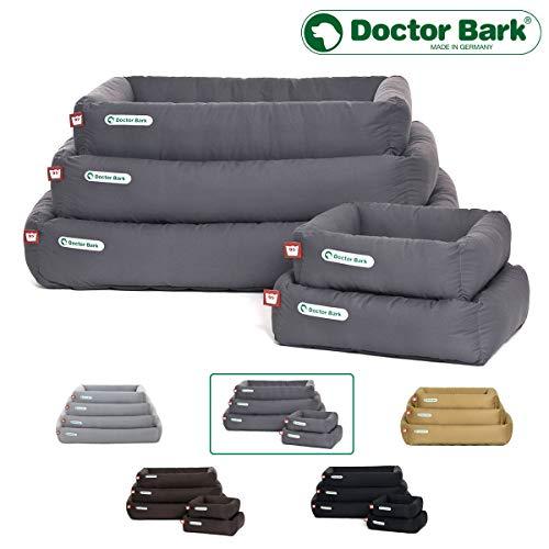 Doctor Bark Hundebett, orthopädisch, formstabil, Kratzfest-Premium Qualität-Größe und Farbe wählbar, waschbar bei 95°C IM GANZEN, alle Größen (XS-XXL) passen in Einer 5 kg Waschmaschine