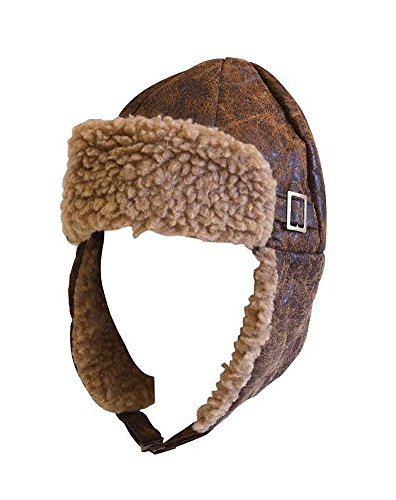 Hayes Aviator Cap Brown with Buckle Adult Size.
