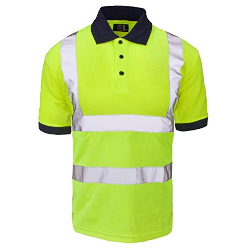 Fast Fashion Hi viz Marinekragen Sicherheits Arbeitskleidung Hoch Visability Polo T Shirt