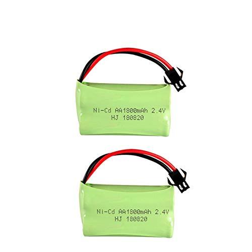 MeGgyc 2.4v 1800mah AA batería Recargable para Juguetes de Control Remoto instalaciones de iluminación de Juguetes eléctricos Juguetes RC 1800 mah 2pcs2.4VAA