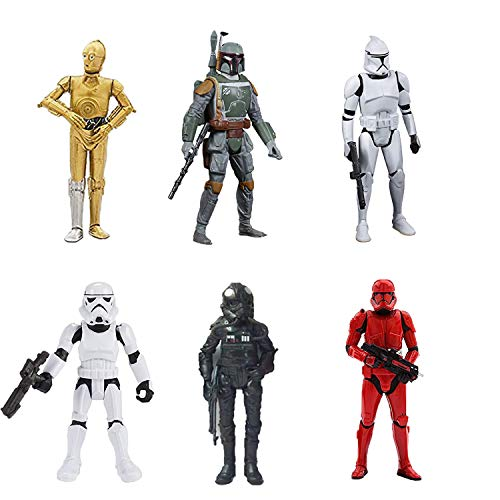 Set of 6 pcs Star Wars's Action Figures Toys Dolls Gifts Cake Toppers, 6 inches