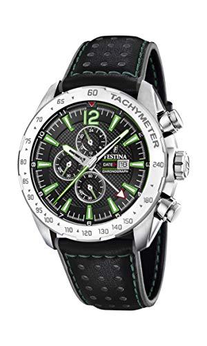 Festina Herren Chronograph Quarz Uhr mit Leder Armband F20440/3
