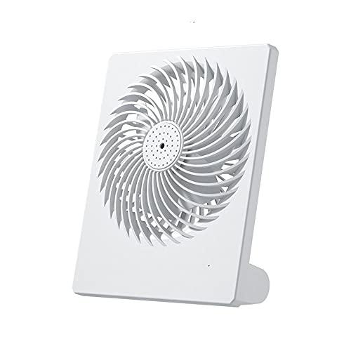 MAVL Habitación pequeña de 3 velocidades portátiles Ventilador de circulación de Aire, Carga USB, 1200 mA batería, aromaterapia, bajo Ruido, Blanco